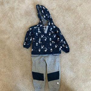 NWOT Baby Boy's Rosie Pope Spaceman Sweatsuit!